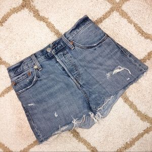 Levi's high waisted wedgie fit shorts